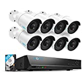 Reolink 16 Channel Video Surveillance System, 4MP 16CH NVR with 3TB HDD, 8 PoE Security Camera 4MP for 24/7 Recording& Remote Home Monitoring System RLK16-410B8