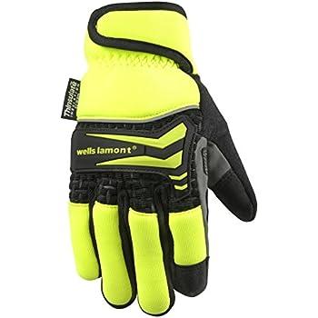 Men's Hi-Dexterity Hi-Viz Winter Gloves, 40-gram