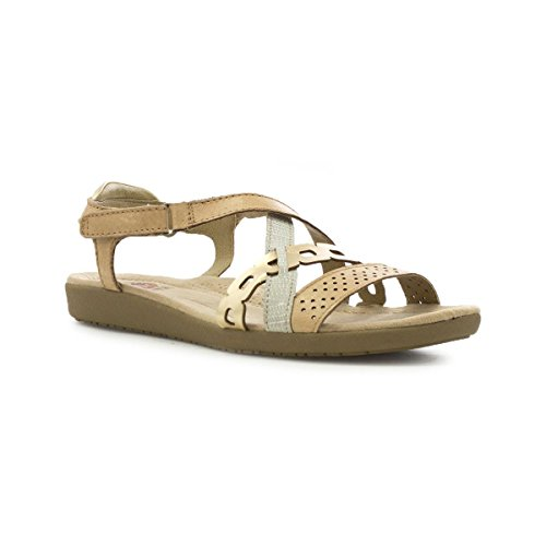 Spirit Earth Sandal Honey Riptape Brown Flat Womens 6CfqCwd