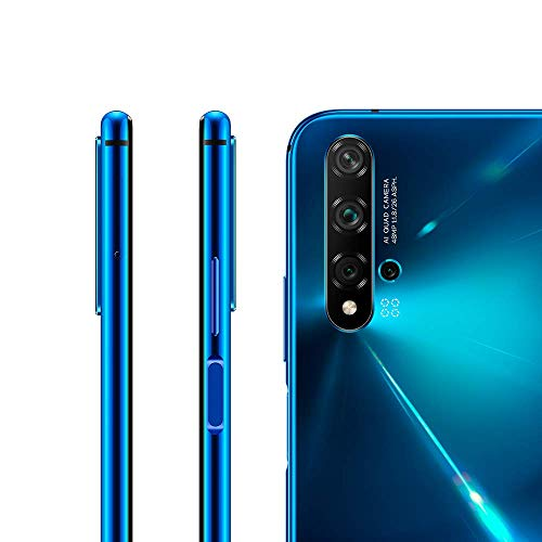 "Huawei Nova 5T (128GB, 6GB) 6.26"" LCD, Kirin 980, 48MP Quad Camera, 22.5W Fast Charge, Dual SIM GSM Unlocked Global 4G LTE International Model YAL-L21 (Crush Blue)"