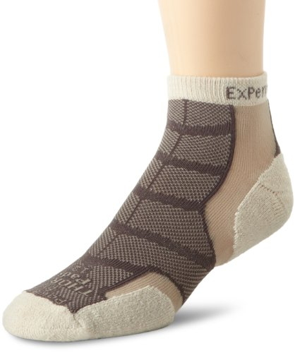 (Thorlos Experia Unisex XWCU Multi-Sport Thin Padded Low Cut Sock, Khaki, Xlarge)