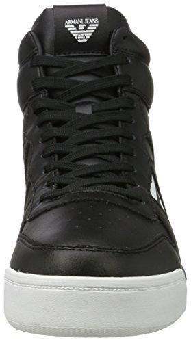 Armani Jeans Uomo Sneaker Alto Taglio Alto Nero (nero)