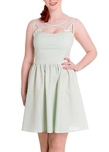 Maisy Kleid Damen Bunny Kleid Weiß Hell Gingham Mintfarben Mini qZTvn