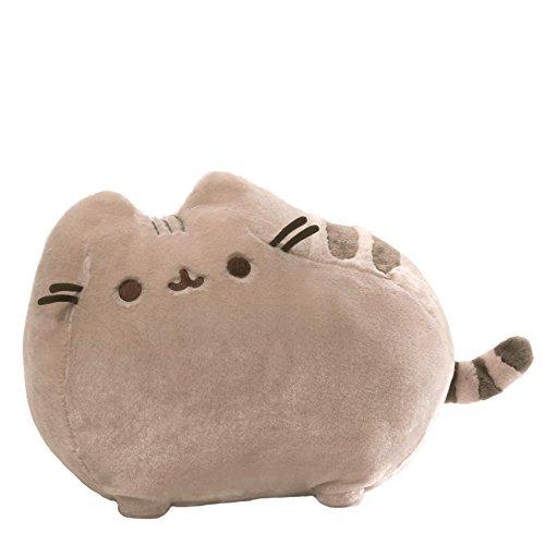 GUND Pusheen Cat Deluxe Plush Stuffed Animal, Gray, 19