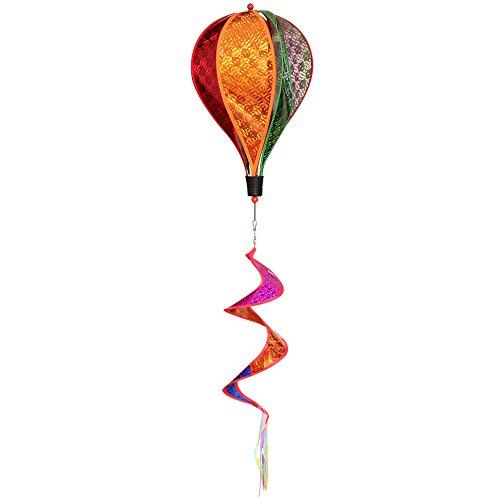 Mini-Factory Bling Glitter Hot Air Balloon Garden Yard Wind Spinner, Colorful Hot Air Balloon Wind Spinner Hanging Decoration for Yard & Garden
