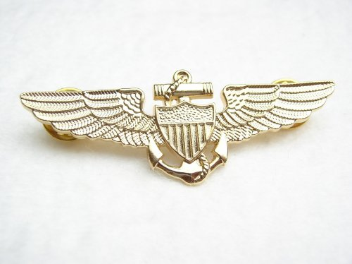 FLIGHT WINGS PIN MARINES USMC AVIATOR LARGE GOLD TONE QUALITY PIN Gift IDEA