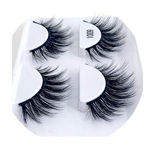 (I Need-You 1/2 pairs natural false eyelashes fake lashes long makeup 3d mink lashes eyelash extension mink eyelashes for beauty,1009)