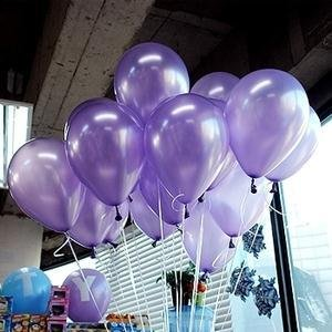 NEO Special Colors 10'' Party Balloons Latex Balloons 100pcs/pack (LIGHT PURPLE)