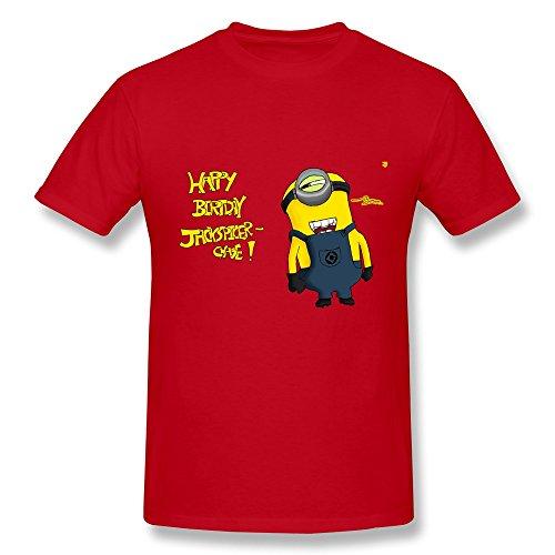 WSB Men's T Shirt Particular Happy Birthday Minions Custom T Shirts Red Size XS