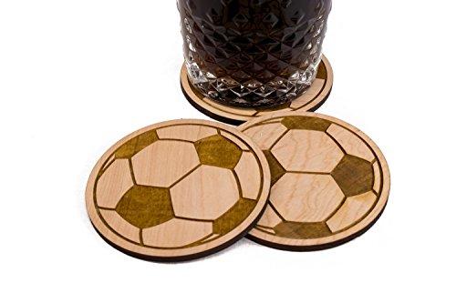 Unfinished Soccer Ball Coaster Set - 4 3.5