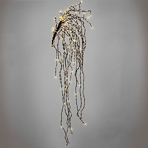 Artificial Indoor Or Outdoor Wall Willow Branch With 640 Warm White Static LED Fairy Lights Premier