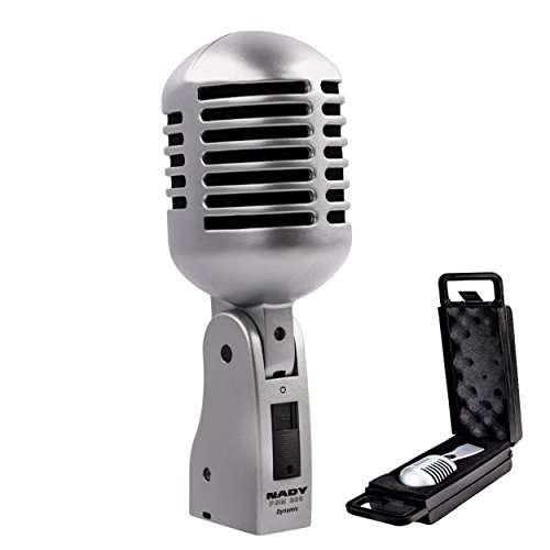 Nady PCM-200 Professional Classic Style Dynamic Microphone - Retro style vocal mic with carrying case, on/off switch, low-cut filter - Vintage look...