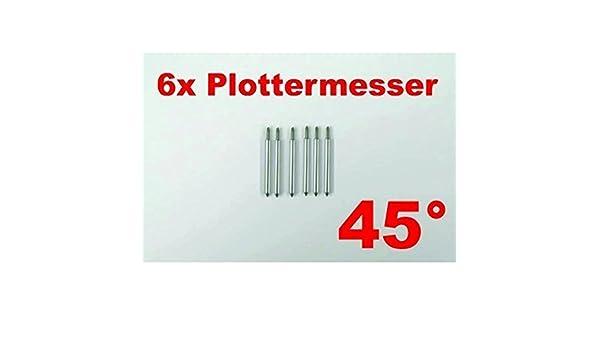 6 x cuchillo de trazado 45° para Roland plotter de corte plotter Secabo helo etc: Amazon.es: Juguetes y juegos