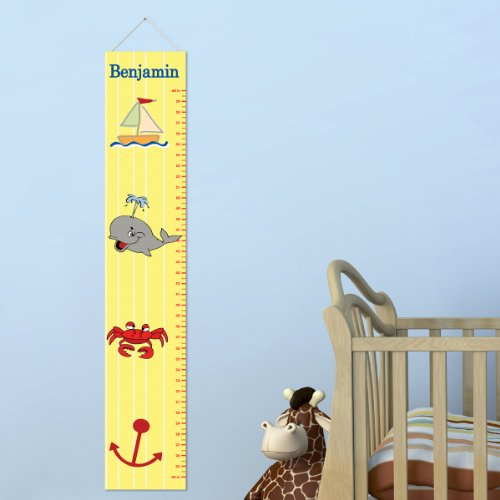 Personalized Ship Shape Growth Chart for Boys by A Gift Personalized