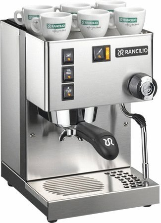 Rancilio Silvia Espresso Machine with Iron Frame and Stainless Steel Side Panels, 11.4 by 13.4-Inch (Commercial Espresso Machine)