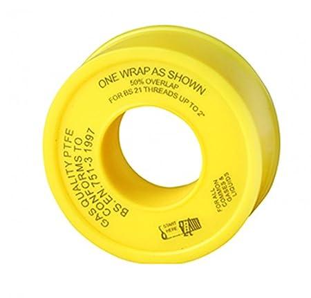 Premium PTFE Tape for Gas fittings - 12mm x 5m - (1/2u0026quot;  sc 1 st  Amazon UK & Premium PTFE Tape for Gas fittings - 12mm x 5m - (1/2