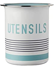 Jamie Oliver Utensil Holder - Container and Organizer for Kitchen Tools - White/Teal