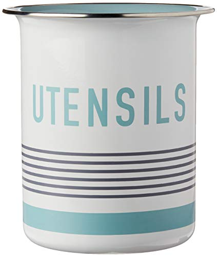 Jamie Oliver Utensil Holder – Container and Organizer for Kitchen Tools – White / Teal