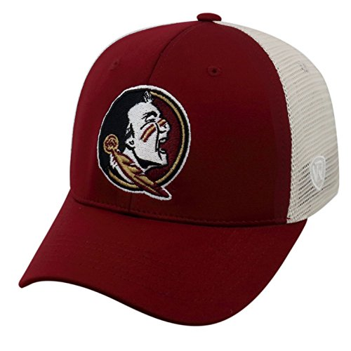 Ncaa Florida State Seminoles Mesh - Top of the World NCAA-Ranger Trucker Mesh-Adjustable Snapback Hat Cap-Florida State Seminoles