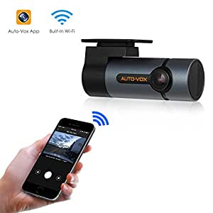 Upgraded 1080p WiFi Dash Cam AUTO-VOX D6 Pro FHD Dashboard Camera Recorder Car Dash Cam with 300°Rotate Angle,Super Night Vision,G-Sensor, WDR, Loop Recording