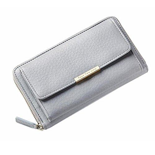Long Crossbody Hombro de Color Gray Bags Gray Large FUBULE Bolsos para Mujer Wallet 16qBwF