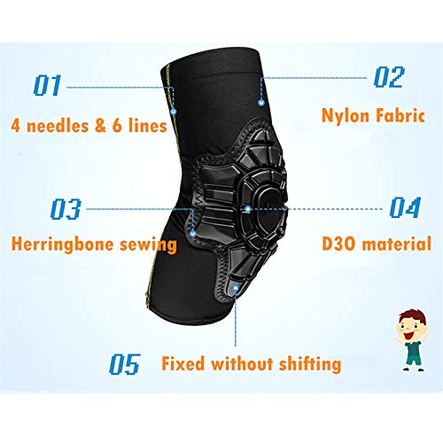 TY BEI Kneepad Kneepad - 2-10 Year Old Kids Cycling Knee Pad and Elbow Pads Balance Bike Children Protector Kneepad Guard Elbow Safety Equipment @@ (Color : Black) by TY BEI (Image #3)