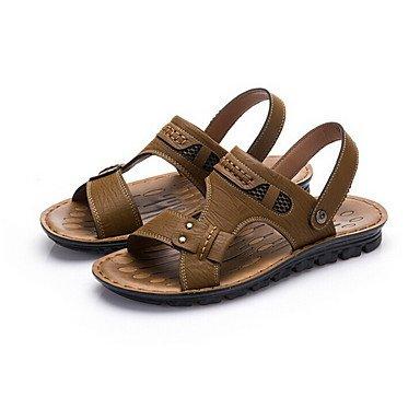 Zapatos de hombre casual sandalias caqui Caqui