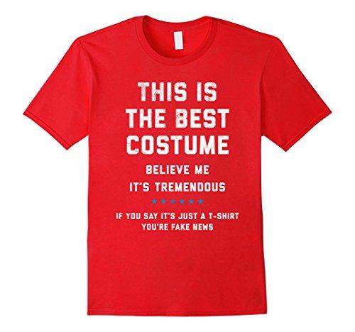 Men Costume Funny (Mens Trump Halloween Costume Shirt - Funny Political XL Red)