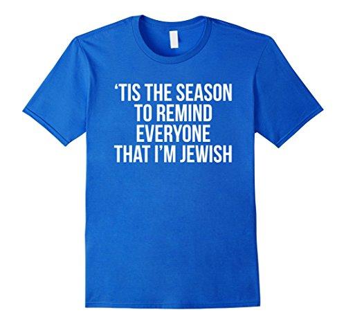 Funny Hanukkah Gifts (Mens Funny Hanukkah Shirt Gift Idea Joke Chanukah Gift XL Royal Blue)