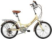 "zoyo 20"" Folding Bikes for Adults 7Speed Gears 20-Inch Folding"