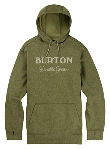 Burton Men's Oak Pullover Hoodie, Clover Heather, Small