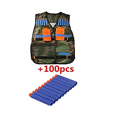100pcs Refill Gun Bullet for NERF N-Strike + Tactical Vest with Storage Pocket by na that we recomend individually.