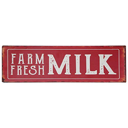 Barnyard Designs Farm Fresh Milk Retro Vintage Tin Bar Sign Country Home Decor 13.75