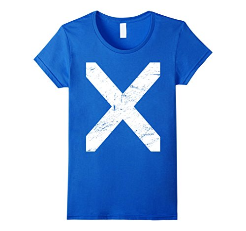 Female Time Lord Costume (Womens Flag Of Scotland | Renaissance Festival T-Shirt Medium Royal Blue)