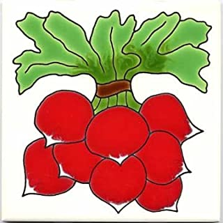 product image for FRUITS-VEGETBLES-TRIVETS-WALL PLAQUES-RADISH TILE