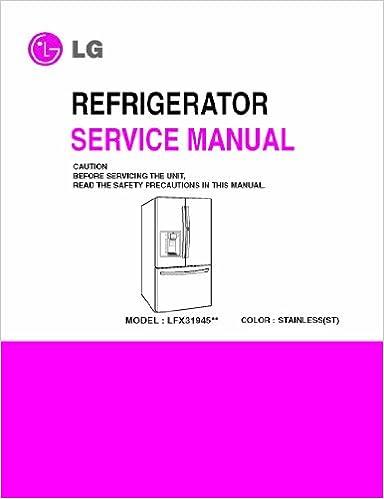 refrigerator service manuals