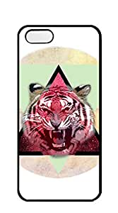 NBcase angry Tiger Triangle hard PC cool iphone 5 cases for guys