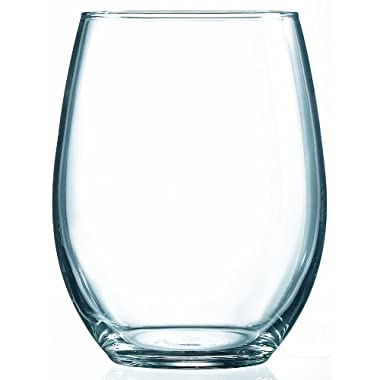 Arc International Luminarc Cachet/Perfection Stemless Wine Glass, 21-Ounce, Set of 6
