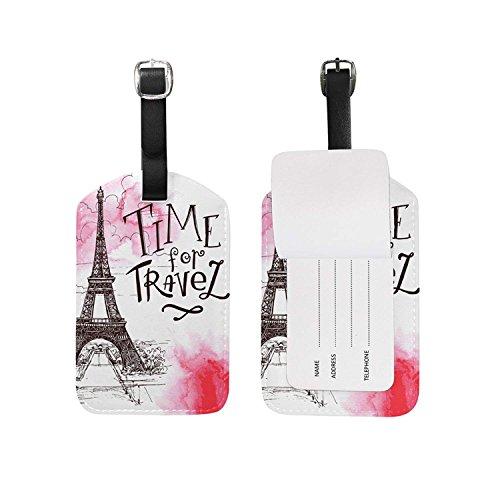 (Luggage Tags Vintage Paris Eiffel Tower Travel Baggage)