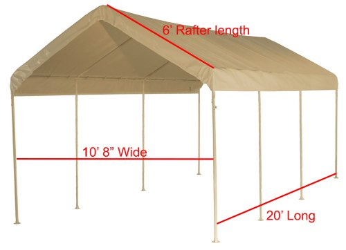 12 X 20 Canopy Replacement Cover Tan For Frames 10
