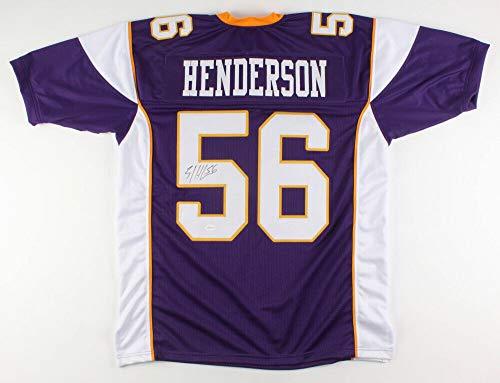 E. J. Henderson Autographed Signed Memorabilia Minnesota Vikings Jersey Tse Coa 2010 Pro Bowl L.B. - Certified Authentic