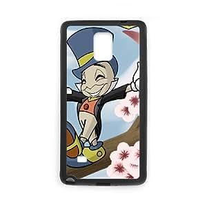 Samsung Galaxy Note 4 Cell Phone Case Black Disney Pinocchio Character Jiminy Cricket SLI_727673