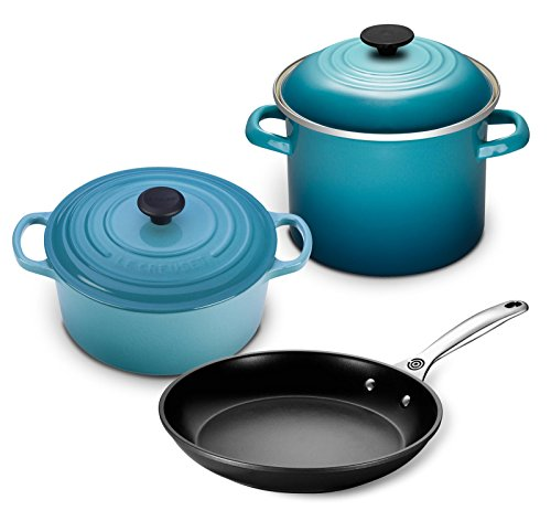 Le Creuset 5pc Oven and Stovetop Cookware Set  - Caribbean