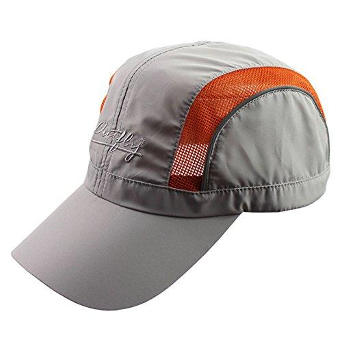Revgear Long Sleeve (YOYEAH Quick Drying Mesh Sun Hat Baseball Hat Airmesh Fitted Cap Light Grey)