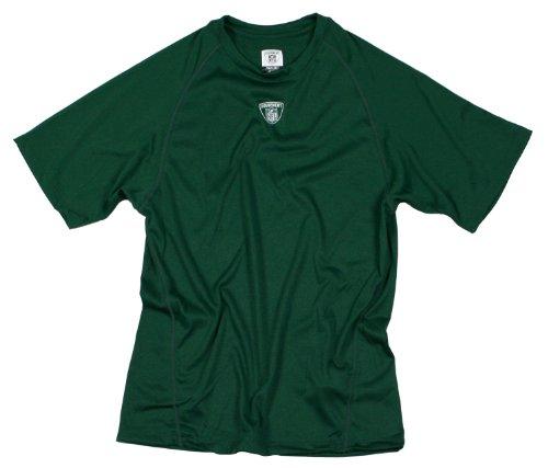 Equipment NFL PlayDry Mens Short Sleeve Workout Top, T-shirt (Small, Dark Green)