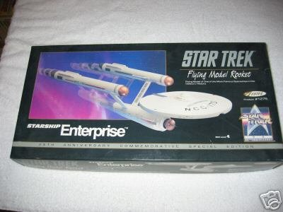 Star Trek Starship Enterprise Flying Model Rocket