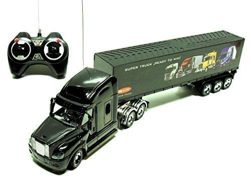 Remote Control Black 18 Wheeler Big Rig Semi Truck Full Import