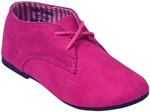 13beedba83058 Jelly Beans Girls Fuchsia Lace-Up Closure Blucher Casual Shoes 12 Kids