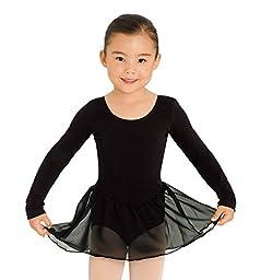 Child Long Sleeve Dress,CL5309BLKS,Black,Small