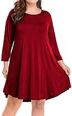 528edecca7 MOLERANI Women s Casual Plain Simple Pocket T-shirt Loose Dress ...